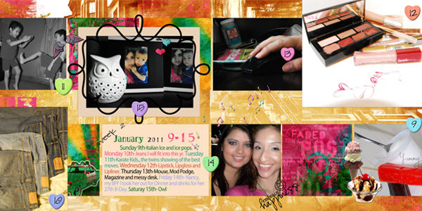 2nd Double Scrap Page January 15th Projec10